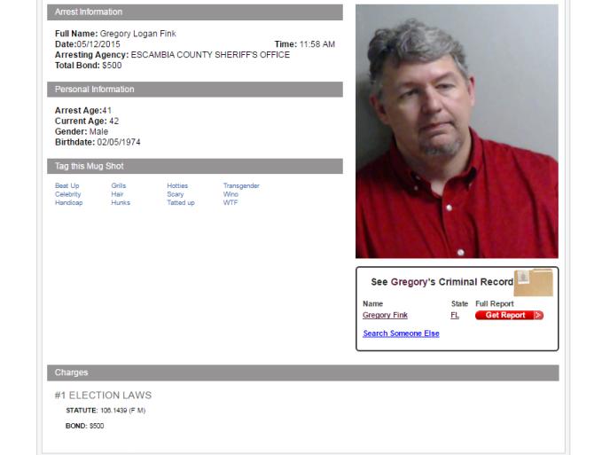 Gregory Fink Mugshot - 05-12-15 Florida Arrest.clipular
